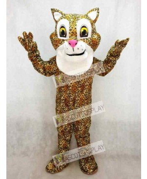 Cute Friendly Jaguar Mascot Costume