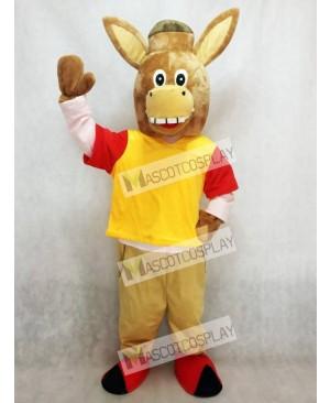 Brown Martin the Donkey Mascot Costume Animal