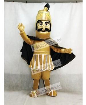 Fierce Golden Helmet Trojan Warrior Mascot Costume