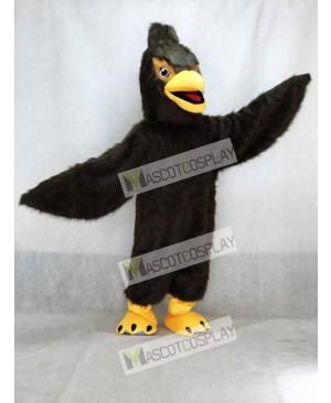 Cute Dark Brown Feather Hawk Falcon Eagle Mascot Costume Animal