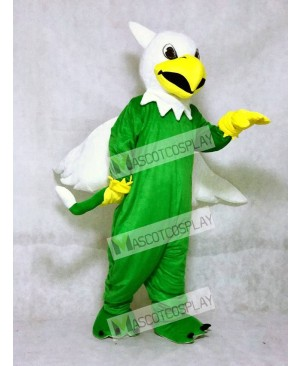 Green Griffin Mascot Costume with White Wings