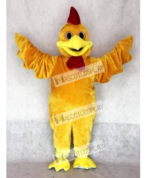 Cute Realistic Rusty Rooster Mascot Costume Animal