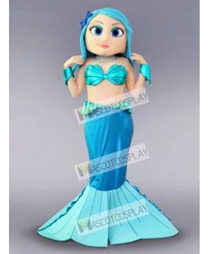 Blue Mermaid Mascot Costume