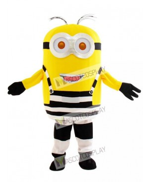 Two Eyes Happy Minion in Prison Despicable Me Mascot Costume