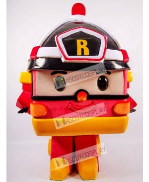 Orange Robotic Car Mascot Costume