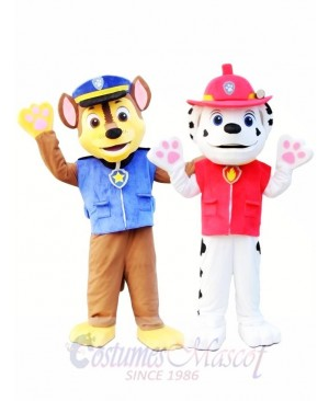 Marshall and Chase Paw Patrol Mascot Costume