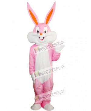 Pink Easter Bunny Bug Rabbit Mascot Costume Animal
