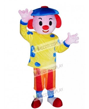Blue Hat Boy Mascot Costume