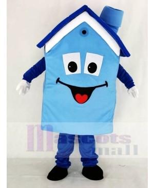 Realistic Blue House Mascot Costume