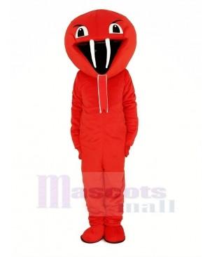 Red Cobra Snake Mascot Costume Animal