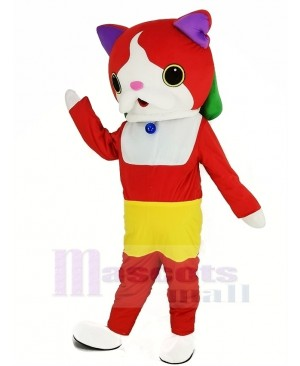 Yo-Kai Watch Jibanyan Red Cat Mascot Costume Cartoon