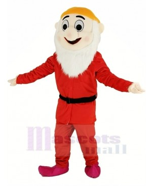 Dwarfs with Red Coat and Orange Hat Mascot Costume