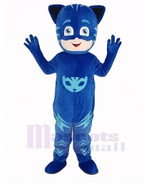 Blue PJ Masks Boy Catboy Mascot Costume People