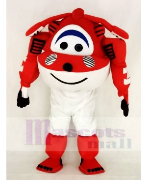 Red Jet Airplane Jett Mascot Costume Cartoon