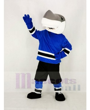 School Sharks with Black Sweatpants Mascot Costume College