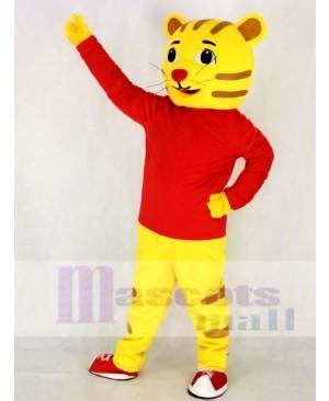 Cute Daniel Tiger in Red Mascot Costume Animal