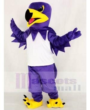 Purple Night Hawk with White Vest Mascot Costume