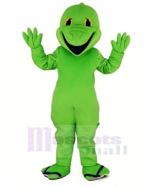 Green Lizard Mascot Costume Animal