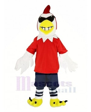 Chicken Rooster with Glasses Mascot Costume Animal