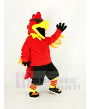Rock Rooster with Black Trousers Mascot Costume Animal
