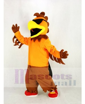 Cool Rock Chicken Rooster Mascot Costume Animal