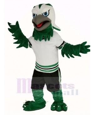 Green and White Eagle Falcon Mascot Costume