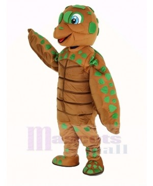 Green and Brown Sea Turtle Mascot Costume Animal