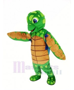 Sea Turtle with Blue Shell Mascot Costume Animal