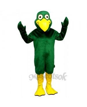Cute Greenie Bird Mascot Costume