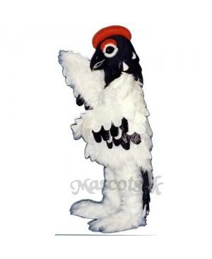 Cute Elegant Snow Bird Mascot Costume
