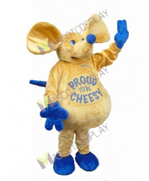 High Quality Adult Cute Mouse with Big Belly Mascot Costume