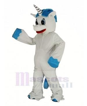 Unicorn with Blue Mane Mascot Costume Animal