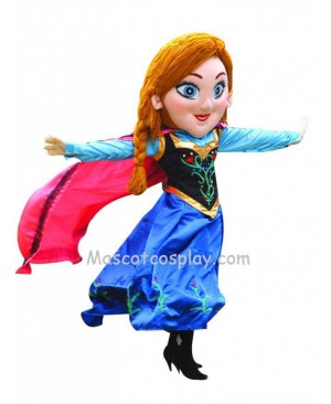 Beautiful Frozen Princess Anna Mascot Costume Fancy Dress Outfit