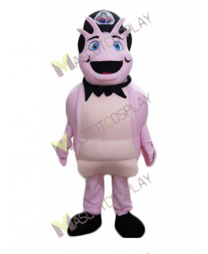 High Quality Adult Pink Shrimp Mascot Costume