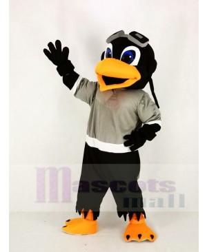 Skyhawk with Gray T-shirt Mascot Costume Animal