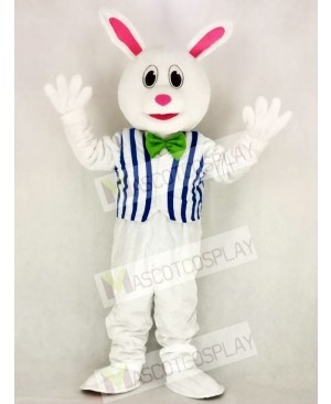 Funny Easter Bunny Rabbit with Vest Mascot Costume Animal
