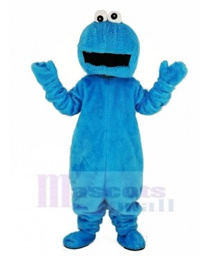 Elmo with Big Mouth Blue Cookie Monster Mascot Costume