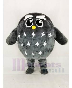 Cute Grey Owl Mascot Costume Animal