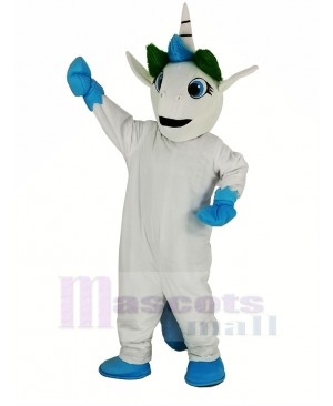 Blue Unicorn Mascot Costume Animal