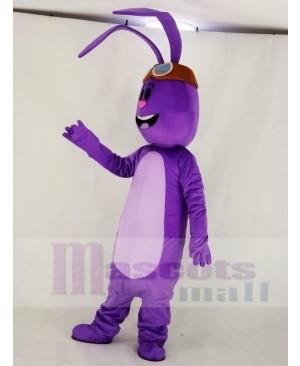 Purple Bunny Rabbit Mascot Costume