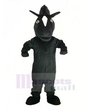 Black Mustang Horse Mascot Costume Animal