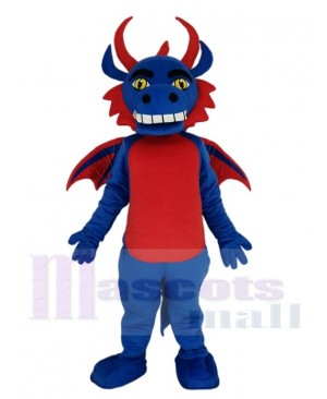 Blue and Red Flying Dragon Mascot Costume Animal