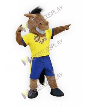 New Sport Team Broncho Horse Mascot Costume