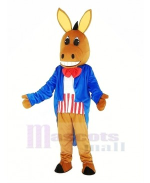 Patriotic Donkey Mascot Costume Animal