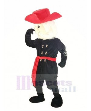 Rebel with Red Hat Mascot Costume People