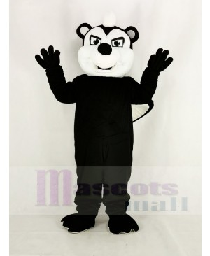 Realistic Black Stinky Skunk Mascot Costume Animal