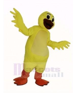 Yellow Waddles Duck Mascot Costume Animal