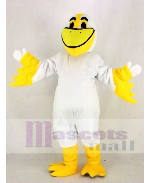 Realistic Cute Peter Pelican Mascot Costume