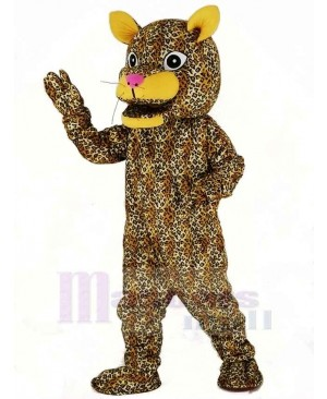 Leaping Leopard Mascot Costume Animal