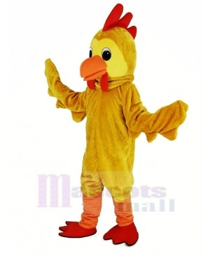 Yellow Cock Rooster Mascot Costume
